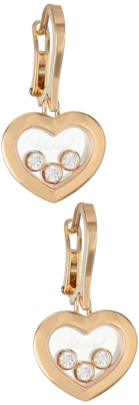 Chopard Happy Diamonds 18K Rose Gold & Diamond Earrings