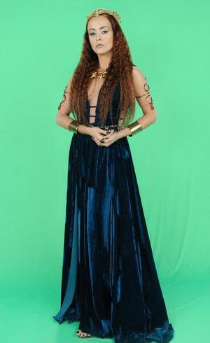Kalesi (Juliana Silveira), A terra prometida, figurino, vestido verde