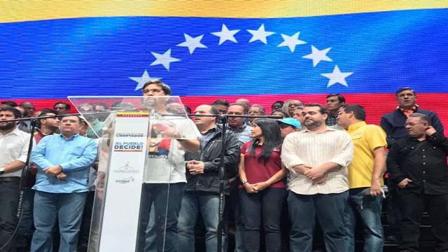 """Oposición convocó un """"paro cívico"""" para el jueves"""