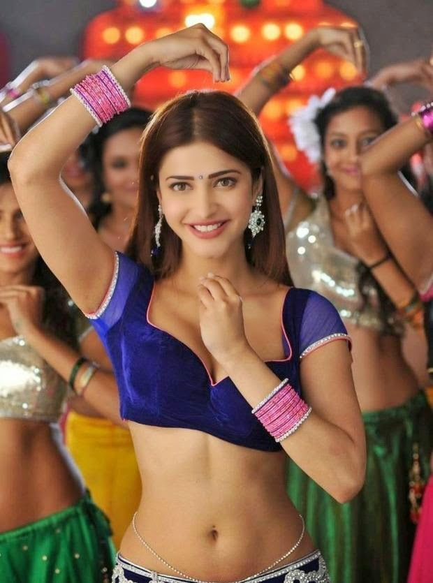 Shruti hassan hot Naval show in the Song Dimple Pimple