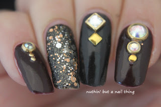 Diamante nail art design ideas