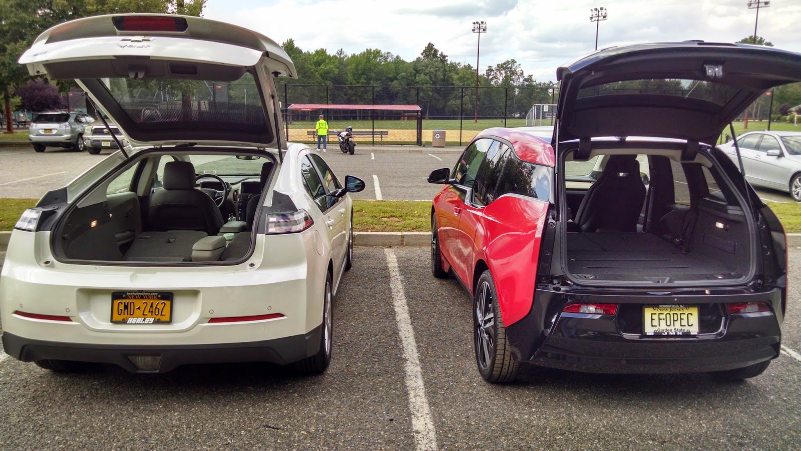 The Volt Has A Larger Cargo Capacity But With Rear Seats Folded Flat I3 S E Is Definitely Adequate For My Needs