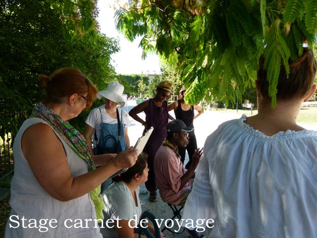 stage carnet de voyage Pat Masioni et Antonia Neyrins