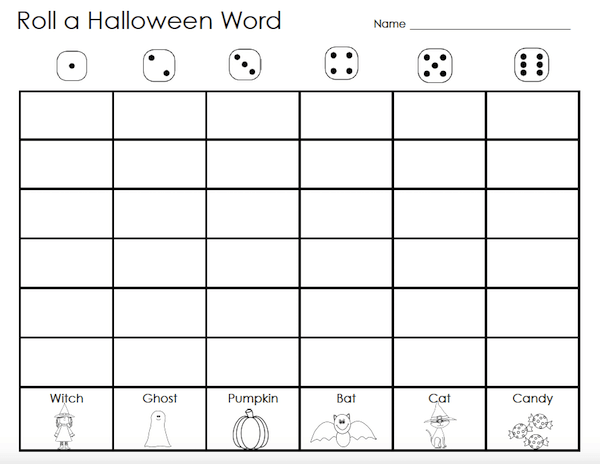 2 free Halloween spelling games for lower elementary students. Quick, easy and minimal prep. #gradeonederful #halloween #spelling #spellinggames #sidewalkchalk