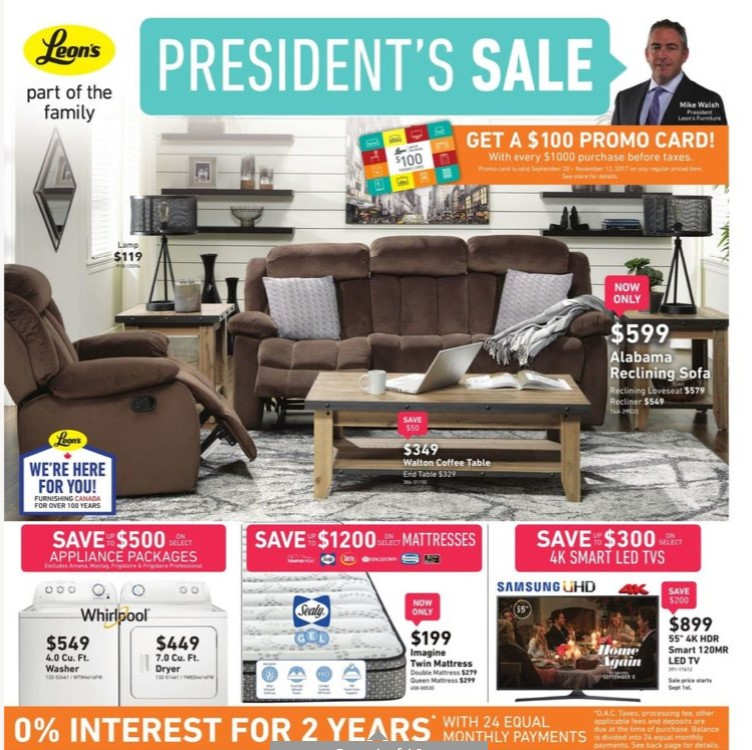 Leon S Flyer President S Sale Valid Augus 23 September 6