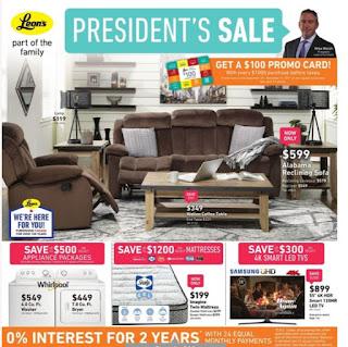 Leon's Flyer  President's Sale valid Augus 23 - September 6, 2017