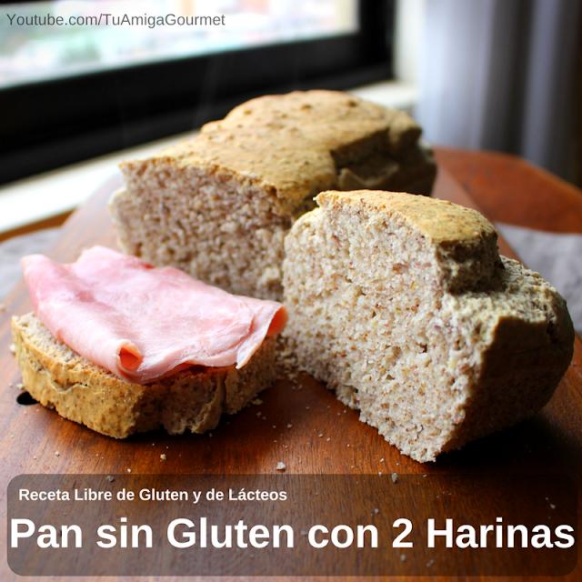 Cómo preparar Pan de dos harinas libre de gluten y de lácteos