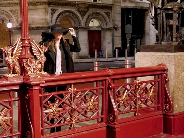 Black and grey layers on Holborn Viaduct in London
