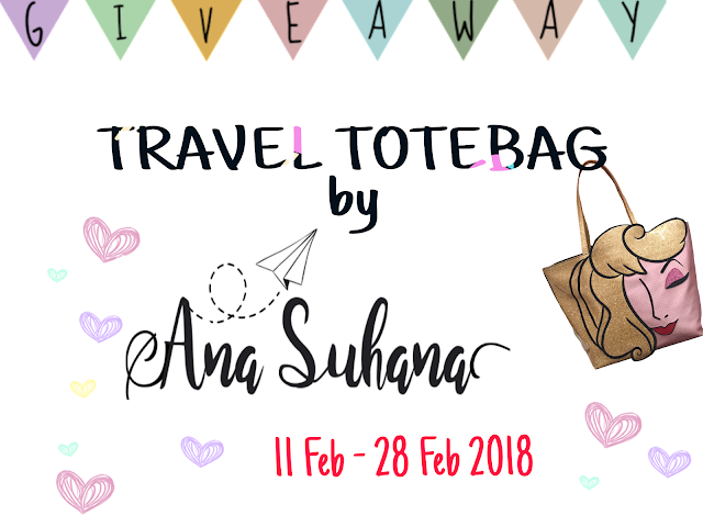 Giveaway : Travel Totebag by Ana Suhana,