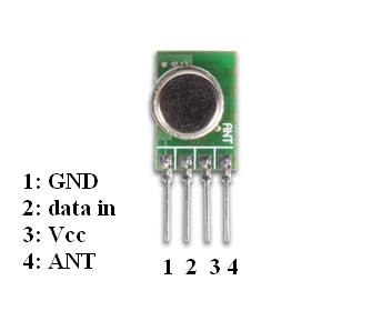 ROBO ZONE: 434MHz RF modules with encoders and decoders