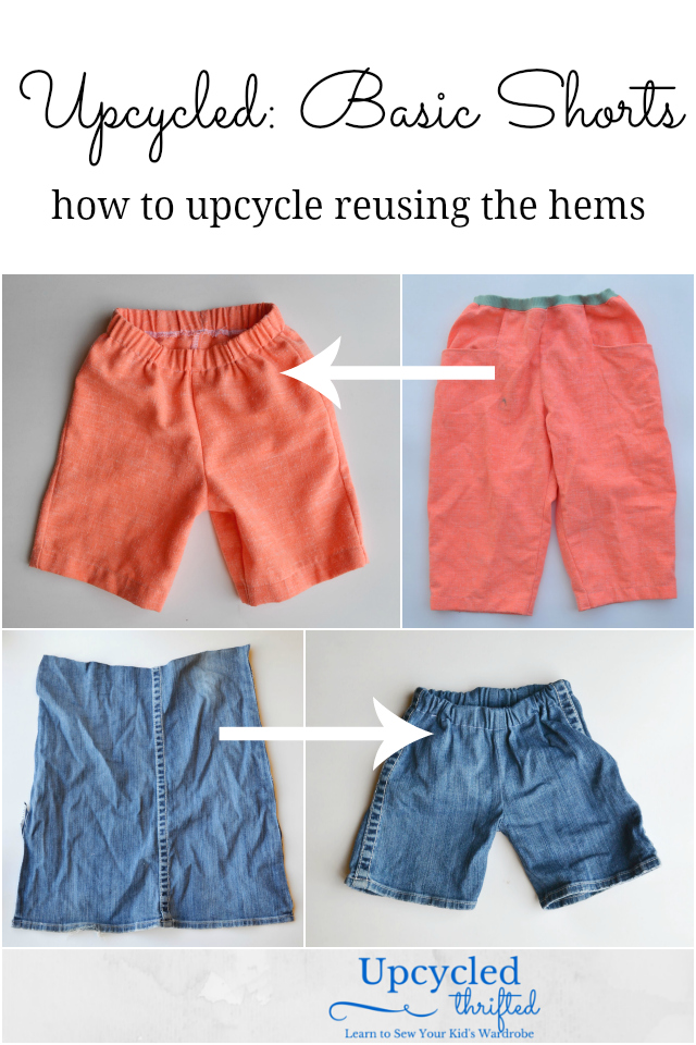 How to Upcycle: Denim Shorts for Kids // DIY Sew