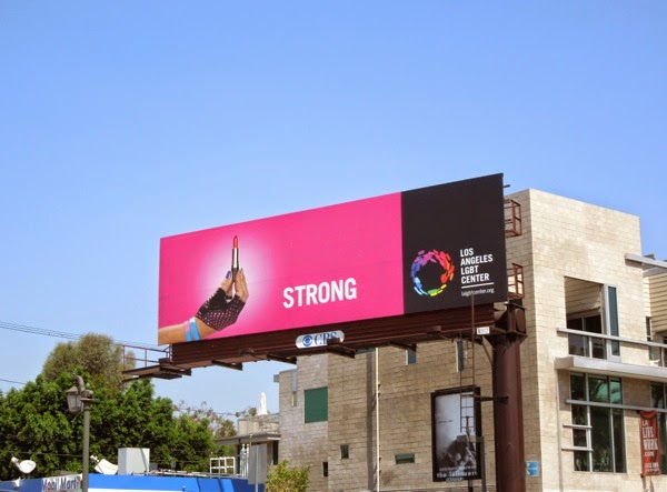 Strong Los Angeles LGBT Center billboard
