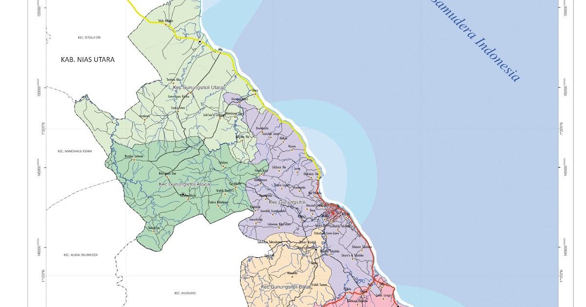 Peta Kota: Peta Kota Gunungsitoli