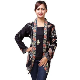 Model Baju Batik Kantor Terbaru Warna Hitam