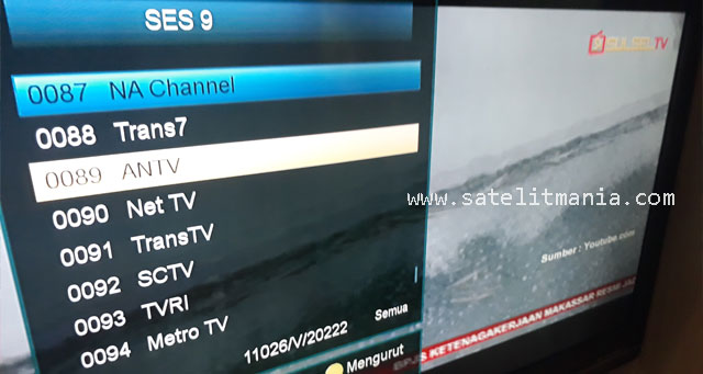 Channel Satelit SES 9