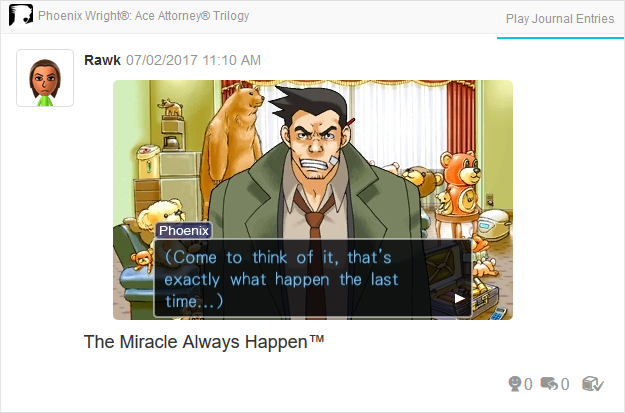 Phoenix Wright Ace Attorney Justice For All Trilogy 3DS exactly what happen typo