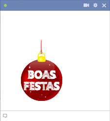 Boas Festas Facebook Emoticon