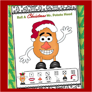 Christmas Games - Mr. Potato Head Number REcognition