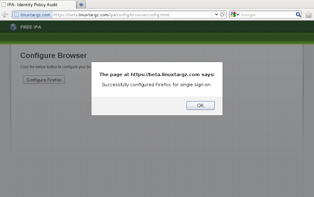 Browserconfig: LinuxTarGz: IPA Server En Fedora 17