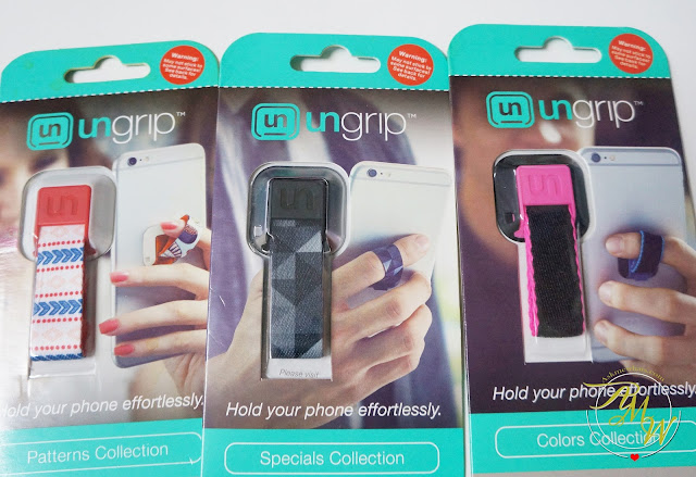 a photo of Ungrip Your Phone Aztec, Aluminum Prism and Pink