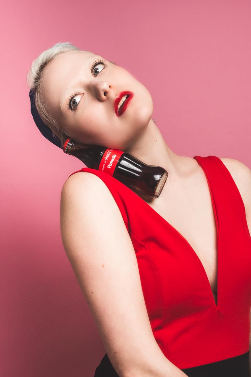 Pamela Makeup Look | RCMA No Color Powder -Foundation Palette - Foundation Thinner - Red Lipstick - Make Up For Ever Stretch Mascara - Azami Makeup Artist