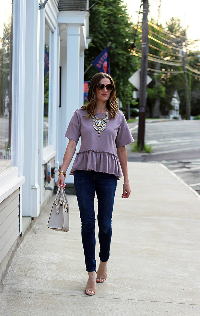 Zaful peplum top