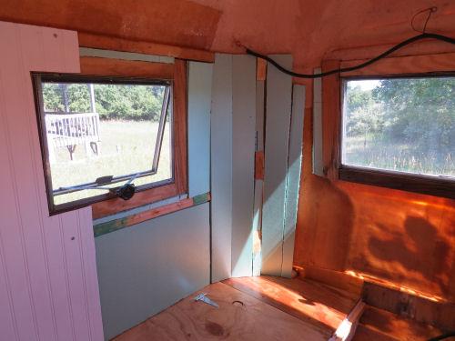 insulation strips in a fiberglass trailer