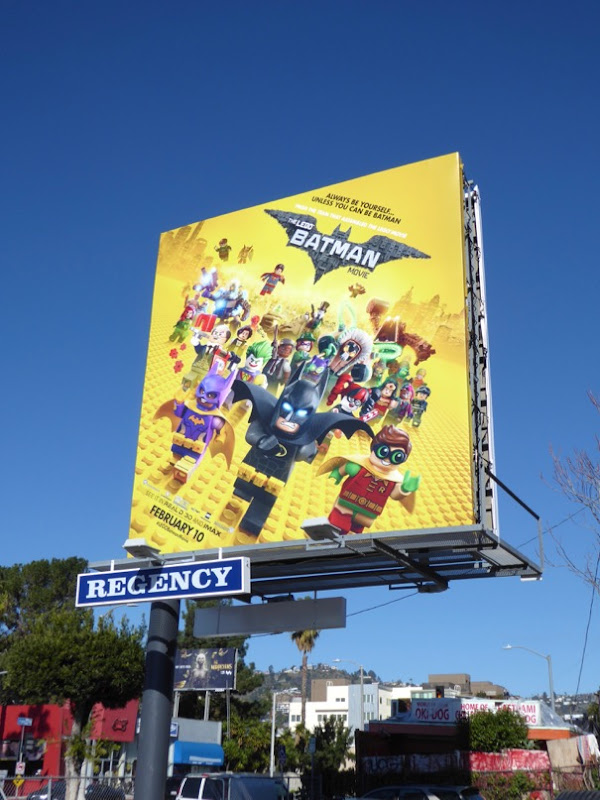 Lego Batman movie billboard