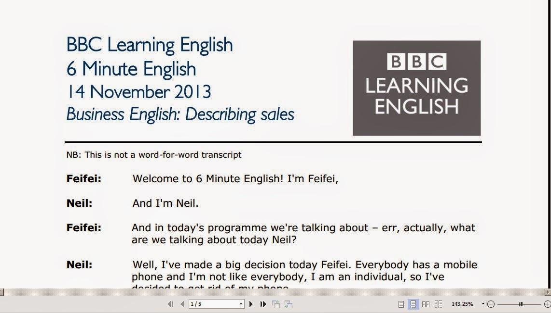 Pdf english bbc minute 6