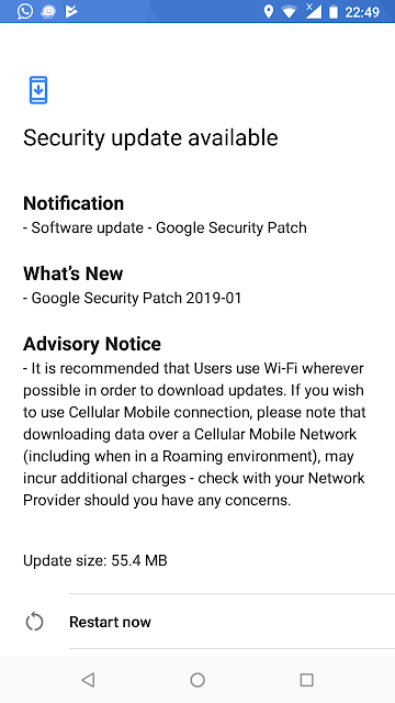 Nokia 2.1 January 2019 Android Security patch