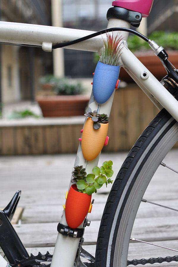 cute bike planters