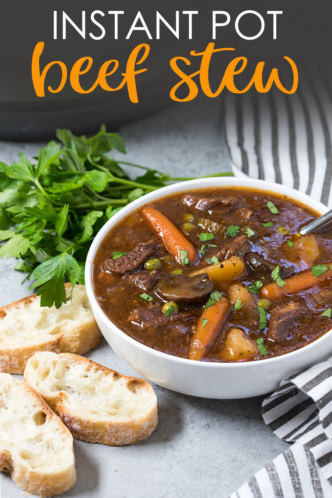 Instant pot beef stew For Dinner