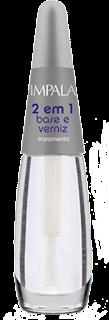 base 2 em 1; base para usar com esmaltes em spray