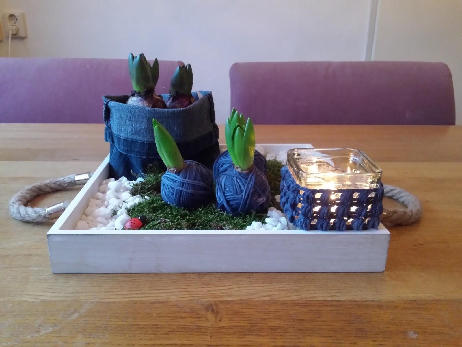 De creatieve wereld van terray bloembollen in jeans style - Tafel klik clac huis van de wereld ...