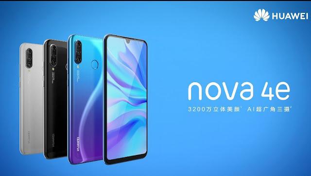 Smartphone Huawei Nova 4e Dilengkapi Kirin 710 SoC Dan Kamera Selfie 32 MP