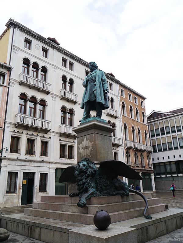 Statue in Venice, Italy