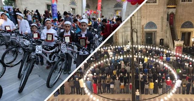 Shalat Shubuh Berjamaah Selama 40 Hari, Anak-anak di Istanbul Mendapatkan Hadiah Sepeda