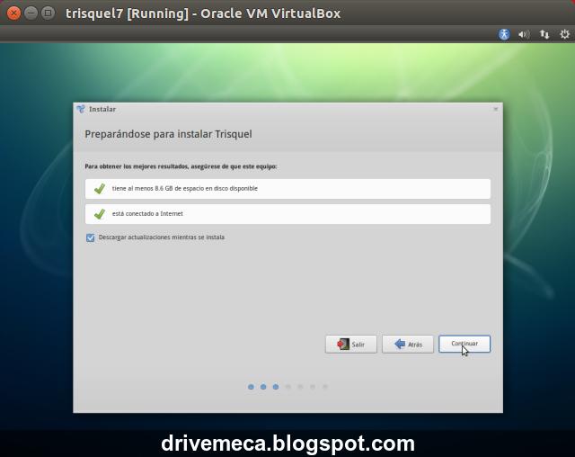 DriveMeca instalando Trisquel 7 paso a paso