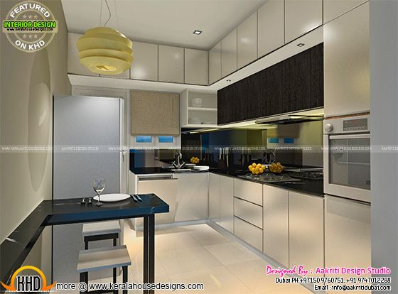 Kitchen interior design, Kerala