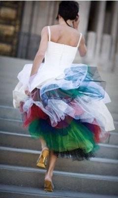 Wedding Dress Colored Crinoline Short Dresses