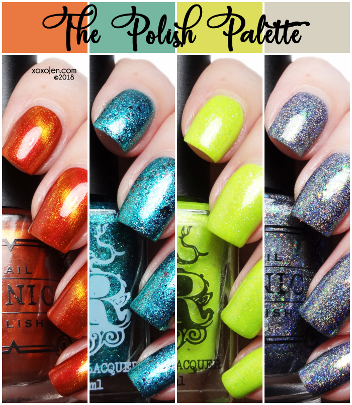 xoxoJen's swatches of Polish Palette July 2018