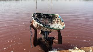 Lake Retba natural pink lake in Senegal East Africa