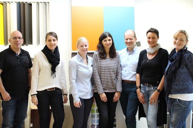 Das Team vom Dekormanagement mit Marina