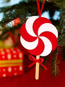 easy peppermint candy homemade paper Christmas ornament