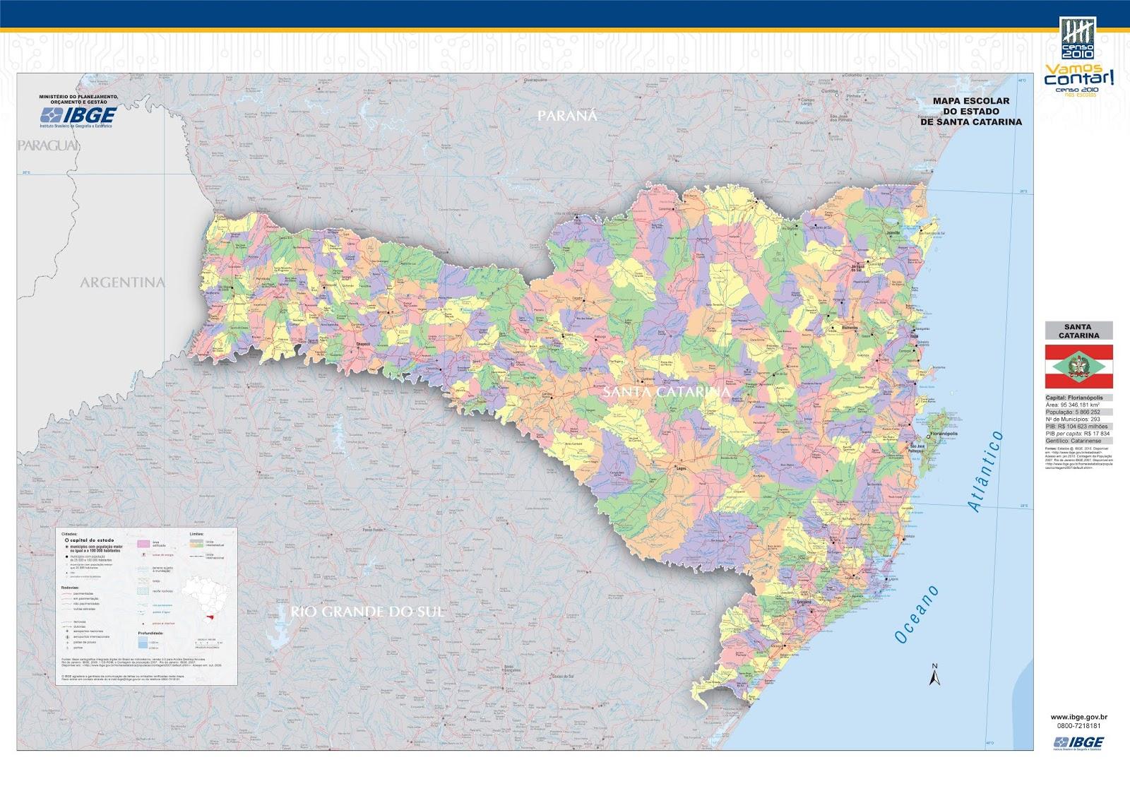 Mapas dos Estados do Brasil