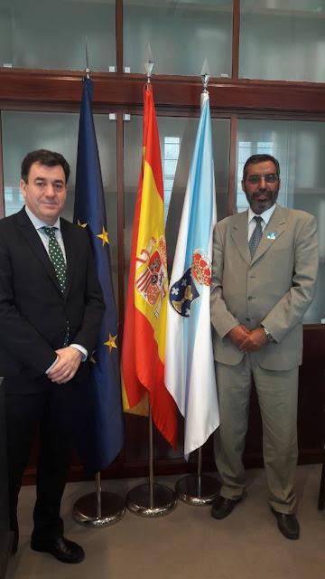 وزير التعليم والتربية بالحكومة الصحراوية يستقبل من قبل مستشار التعليم في حكومة غاليسيا الإسبانية