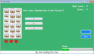 Keys Count Game Source Code
