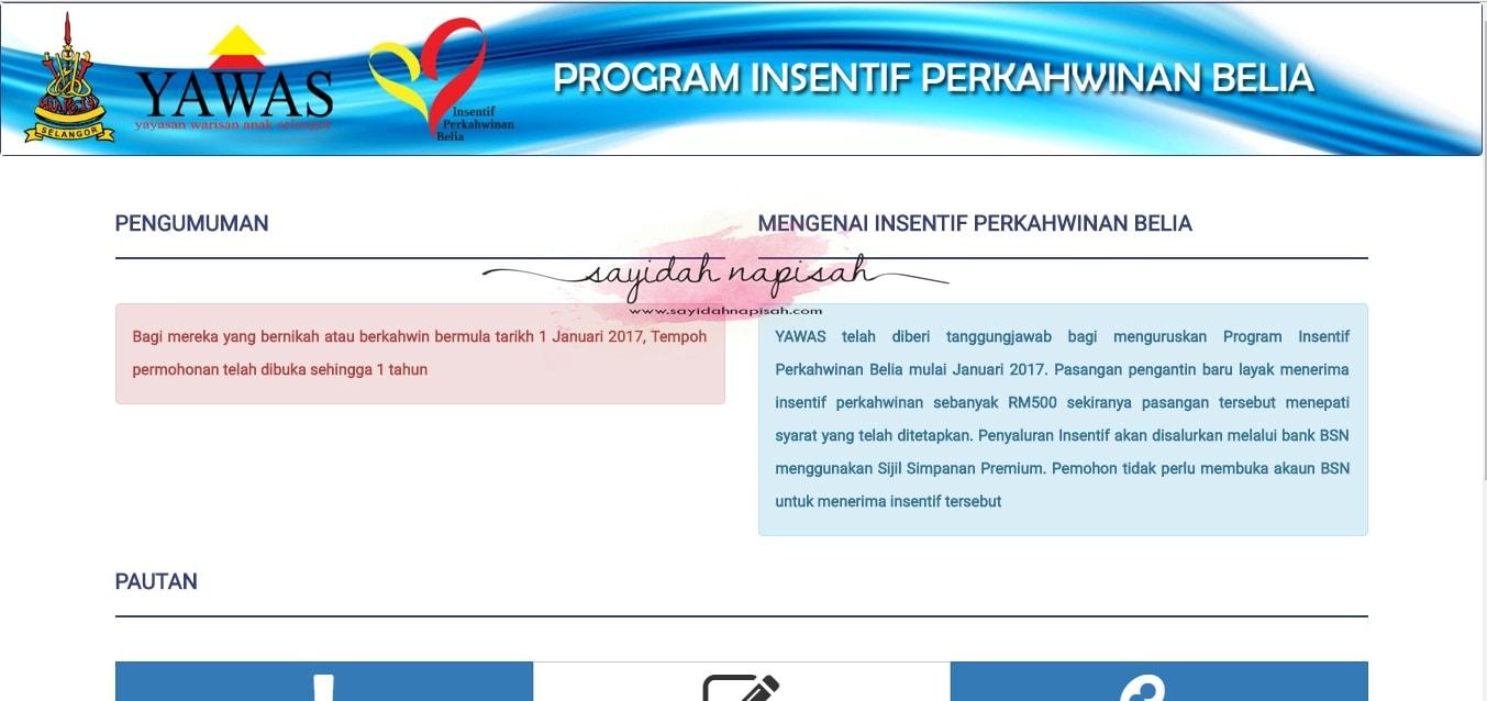 Insentif Perkahwinan Sebanyak RM500 - Syarat Permohonan & Cara Memohon