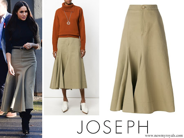 Meghan Markle wore JOSEPH full midi skirt