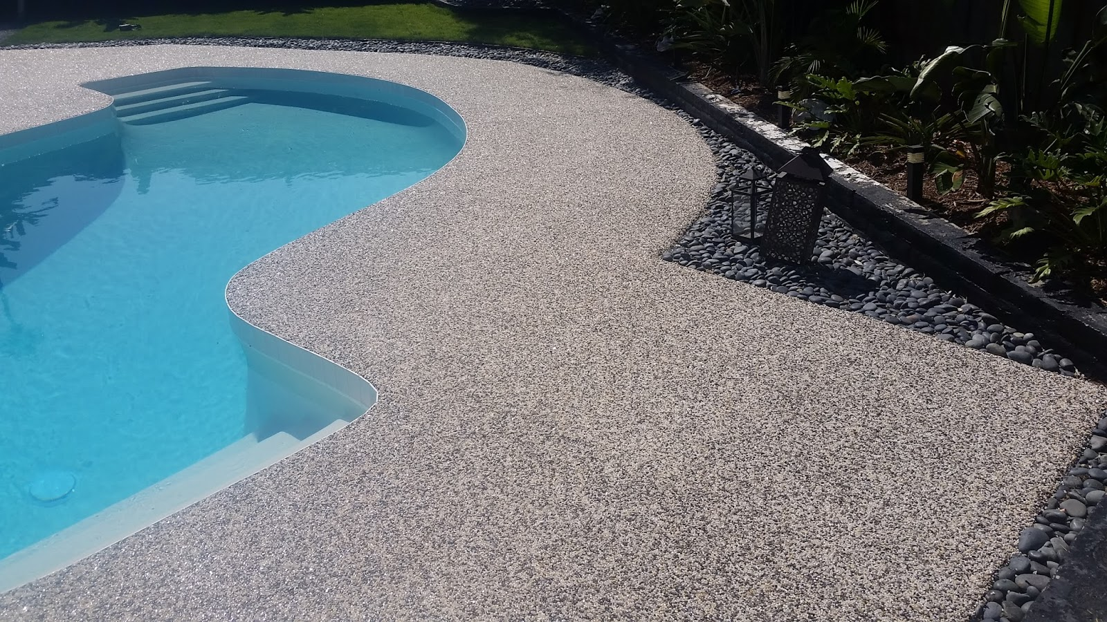 Epoxy Pebble Stone Concrete Resurfacing 2019